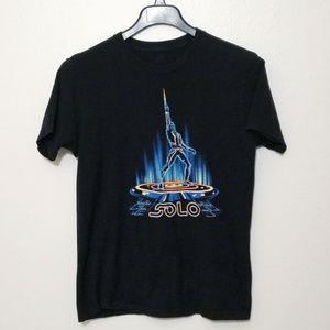➡️ Men's Han Solo in Neon Tron Style T-shirt